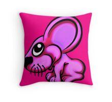 Pink Cartoon Mouse  Throw Pillow