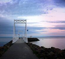 The white pier by Gisele Bedard