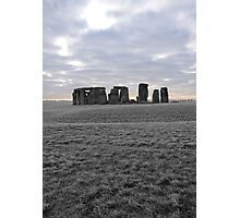 Stonehenge Colored Sunrise Photographic Print