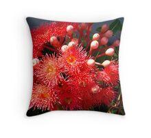 Eucalyptus Red Throw Pillow