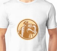 Photographer Vintage Bellows Camera Woodcut Unisex T-Shirt