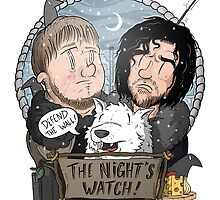 Game of Thrones fan art / Night's Watch by Torquem