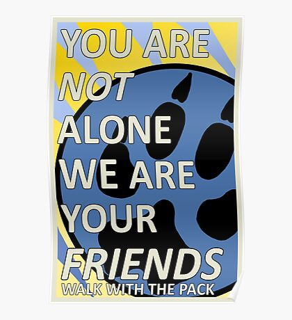 Furry Propaganda : You are not alone Type B Poster