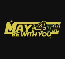 MAY THE 4TH BE WITH YOU Funny Geek Nerd by norowelang