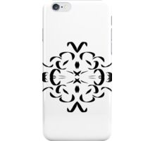 Pen and Ink Pattern, black and white iPhone Case/Skin