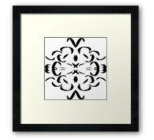 Pen and Ink Pattern, black and white Framed Print