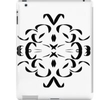 Pen and Ink Pattern, black and white iPad Case/Skin