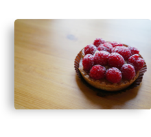 Raspberry Tartlet Canvas Print