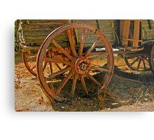 Wagon Wheel Metal Print