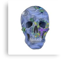 Psychedelic Blue Skull. Canvas Print
