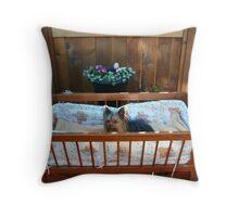Cradled Baby Throw Pillow
