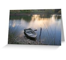 The Empty Rowing Boat, Adelaide Hills Greeting Card
