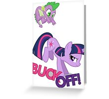"""BUCK OFF!"" Greeting Card"