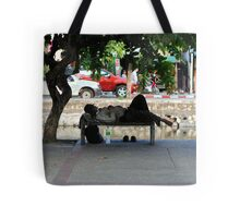 homeless in the old city Tote Bag