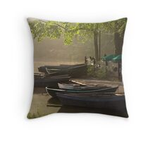 Waterside cafe Throw Pillow