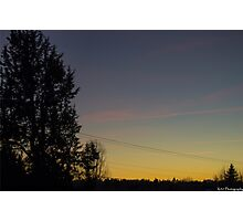 A Mellow Sunset Photographic Print