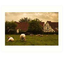 Country scene Art Print