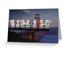 Paleo Stormtroopers over Golden Gate Bridge Greeting Card