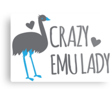 Crazy EMU lady Metal Print