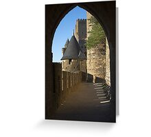 Carcassonne castle Greeting Card