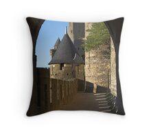 Carcassonne castle Throw Pillow