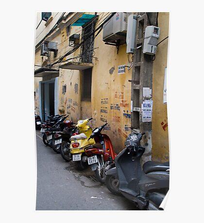 Motorbikes (Ha Noi, Viet Nam) Poster
