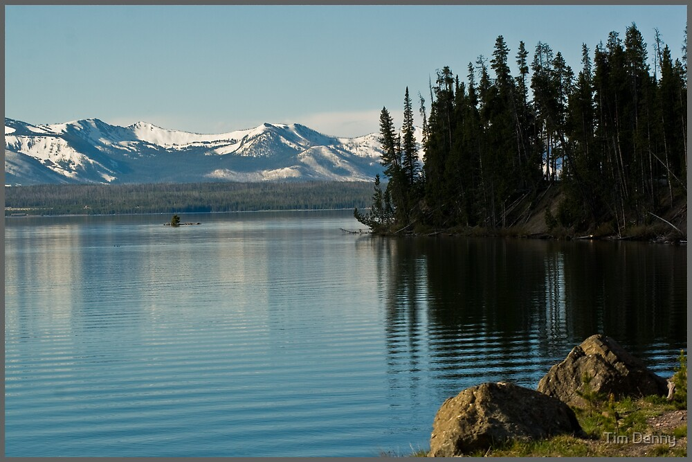 ~ Yellowstone Lake ~ by Tim Denny