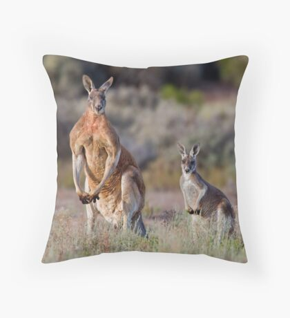Mr. Muscles and wife Throw Pillow