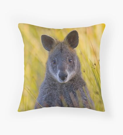 Lonely Swamp Wallaby 1 Throw Pillow