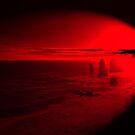 Red Sunset at Twelve Apostles  by LasTBreatH
