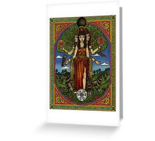 The Goddess Hecate Goddess of Witchcraft and Cross Roads Greeting Card