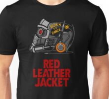 Red Leather Jacket Unisex T-Shirt