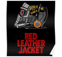 Red Leather Jacket Poster