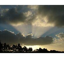 Hidden rays Photographic Print