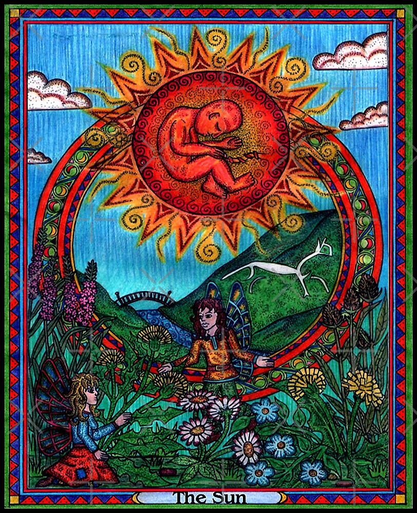 The Sun Card, Tarot by CherrieB