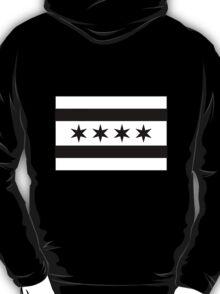 Chicago Flag - Black and White T-Shirt