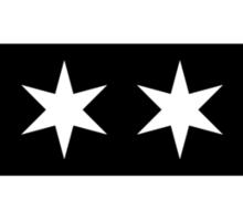 Chicago Flag - Inverted B&W Sticker