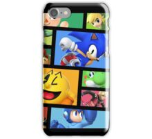 Super Smash Bros. For Nintendo 3DS/ Wii U Poster Brick Pattern iPhone Case/Skin