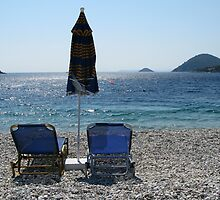 Sunloungers by Mike Paget
