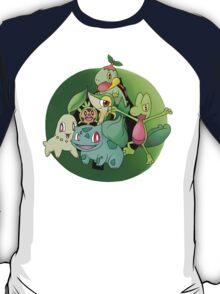 Pokemon Grass Starters Fanart T-Shirt