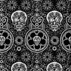 Skull Mehndi Black  by CYCOLOGY