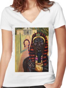 Taharqa Women's Fitted V-Neck T-Shirt