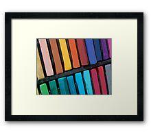 Color Bars Framed Print