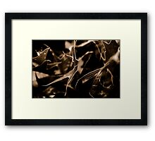 Leaves in Abstract Framed Print