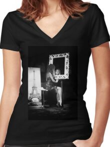 Through the mirror Women's Fitted V-Neck T-Shirt