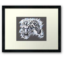Dragon Girl Framed Print