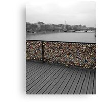 Paris love Padlocks Canvas Print