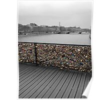 Paris love Padlocks Poster