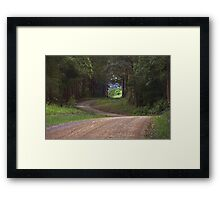 THE ROAD TO SOMEWHERE Framed Print