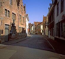 Street in Bruges 2002 by Priscilla Turner